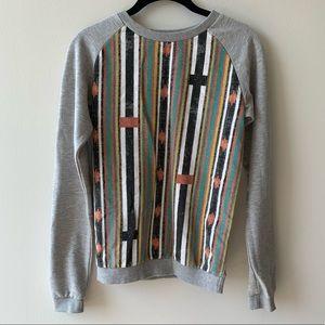ASOS grey sweatshirt multicolor print size 2